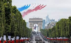 La France célèbre la fête Nationale de l'indépendance le 14 juillet 2021 à Paris.